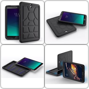 mix Coque Galaxy TAB S3 9.7 pouces Silicone renforce premium Noir