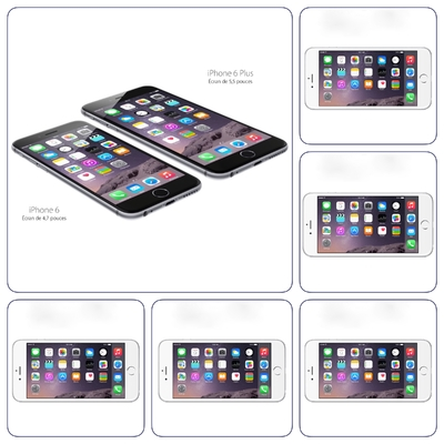 Pack 5 x Verre de protection écran Premium iPHONE 6+ / 6S+ 5.5 pouces