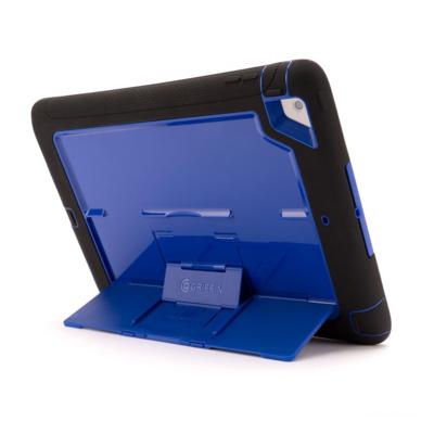 Coque renforcée Silicone + Pied iPad AIR 2 Survivor Slim Bleu