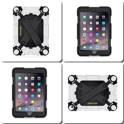 Kit 2 en 1 Harnais main rotatif + Coque de protection Survivor iPad Mini 4