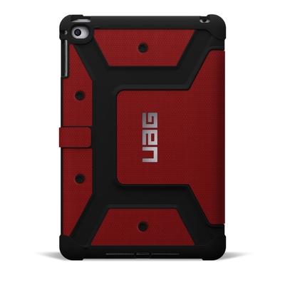 Etui iPad Mini 4 Folio Protection renforce Armure Rouge Magma