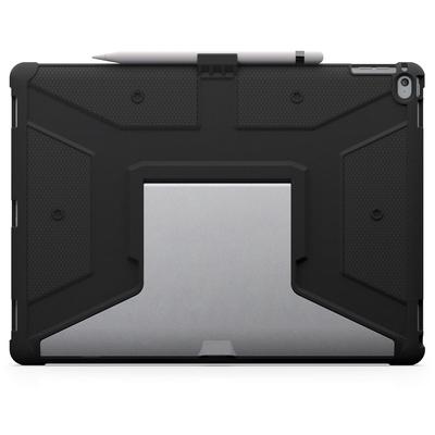 Coque renforcee iPad PRO 12.9 Support stylet Pied Aluminium Armure Noir