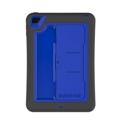 Coque renforcee iPad Mini 4 Survivor Slim Pied amovible Bleu