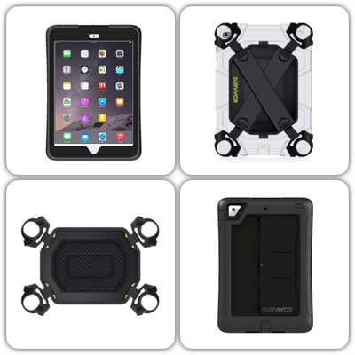 Harnais main + Coque protection Survivor Slim iPad Mini 4