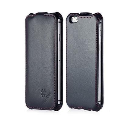 Etui de protection cuir veritable Haut de gamme iPHONE 6 et 6S PLUS 5.5 Noir Sellier