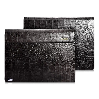 deux Folio Cuir Microsoft Surface BOOK Aspect Croco Noir