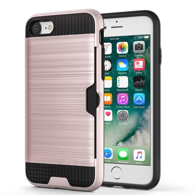 Housse de protection iPHONE 7 et Verre de protection ecran Coloris Rose