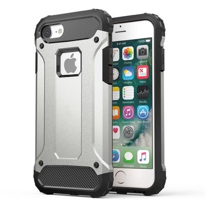 Coque de protection iPHONE 7 Rugged et Verre de protection ecran Silver