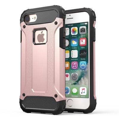 Coque de protection iPHONE 7 Rugged Rose et Verre de protection ecran