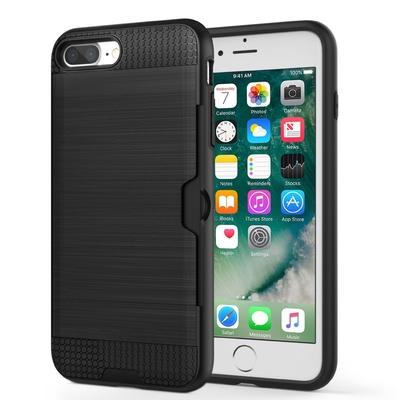 Coque de protection Noire iPHONE 7 Plus 5.5 et Verre protection ecran