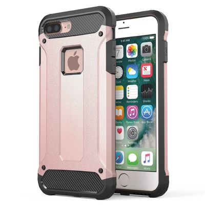 Coque iPHONE 7 plus 5.5 Rugged Rose et Verre de protection ecran