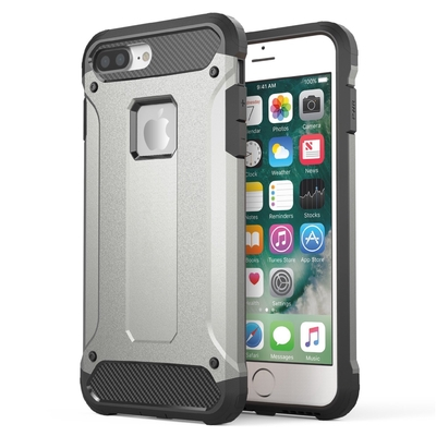 Coque Rugged Silver iPHONE 7 plus 5.5 et Verre de protection ecran