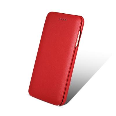 Folio Cuir veritable iPhone 7 4.7 pouces iPhone 6 et 6S Premium Rouge