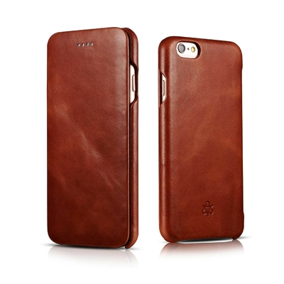 Etui Cuir veritable iPhone 7 4.7 pouces iPhone 6 et 6S Folio Tan Premium