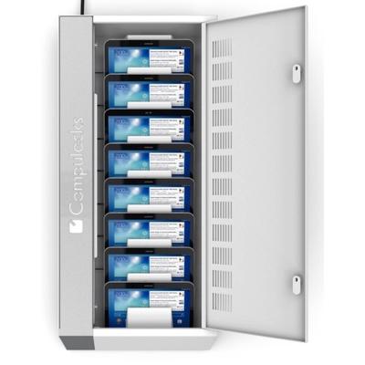 Armoire de charge securisee 8 tablettes 7.9 pouces a 10.5 pouces Universelle Wall Blanc