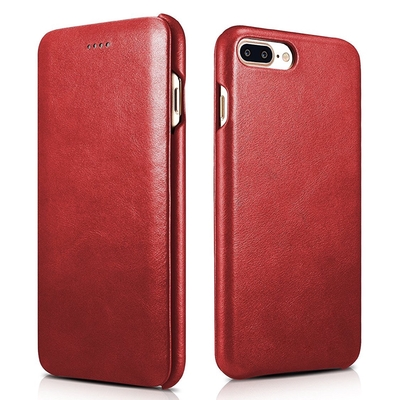 Folio Etui Cuir iPhone 7 Plus 5.5 pouces iPhone 6 6S Plus Rouge