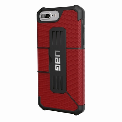 Protection Armure etui renforce iPhone 7+ iPHONE 6+ et 6S+ 5.5 pouces Rouge magma