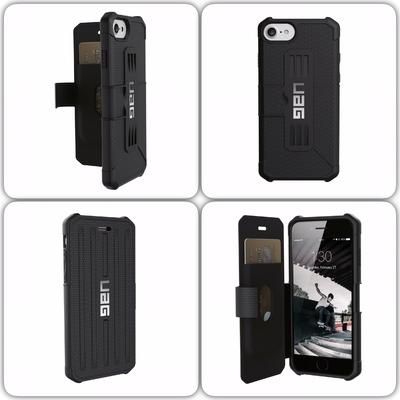 mix Coque Folio Cover ecran iPHONE 7 iPHONE 6S et 6 Armure Pros Noir