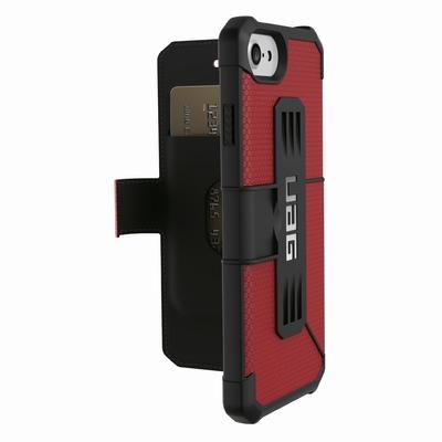 Etui Folio iPHONE 7 iPHONE 6S et 6 Armure Pros Rouge magma