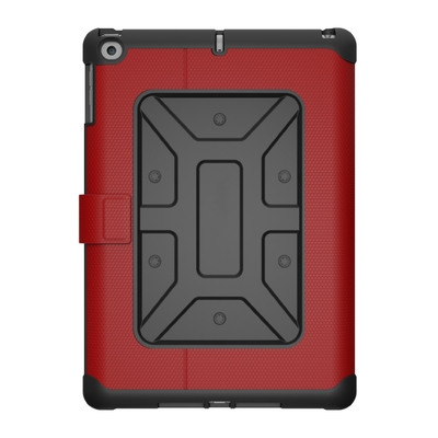 Protection Folio Coque iPad 2017 Etui avec cover Metro Rouge magma
