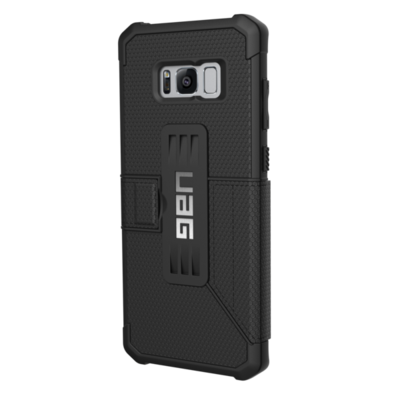 biais Etui Folio Coque de protection Galaxy S8+ 6.2 pouces Armure 360° Noir