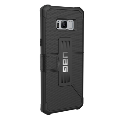 dos Etui Folio Coque de protection Galaxy S8+ 6.2 pouces Armure 360° Noir