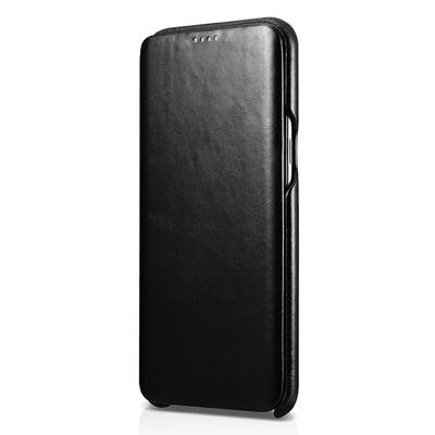 Etui Portefeuille Protection Cuir Luxe Galaxy S8+ 6.2 pouces Noir