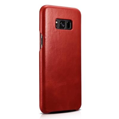 Etui Folio de Protection Cuir veritable Galaxy S8+ 6.2  Rouge magma