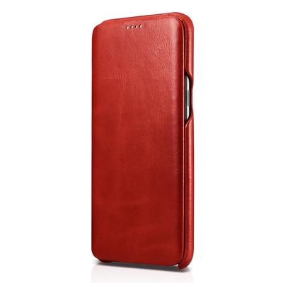 Etui Protection Cuir pleine fleur Galaxy S8 5.8 Samsung Rouge Magma