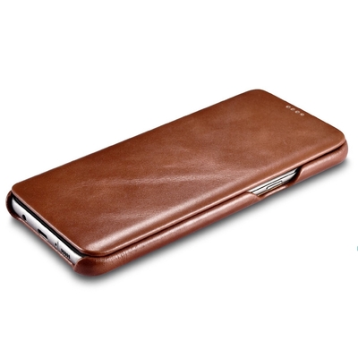 Housse Etui Protection Cuir veritable Galaxy S8+ 6.2 pouces Tan