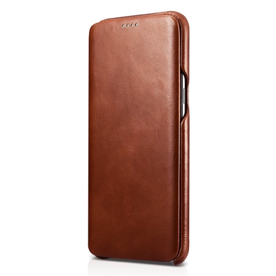 Etui de protection cuir Luxe Samsung Galaxy S8 5.8 Tan