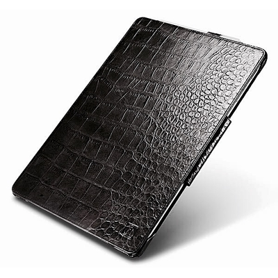Etui Surface PRO 4 Folio Coque Protection Cuir veritable Aspect Croco Noir