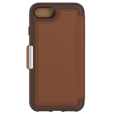 Etui Cuir veritable avec Coque Silicone iPHONE 8 et iPHONE 7 4.7 pouces Strada Marron