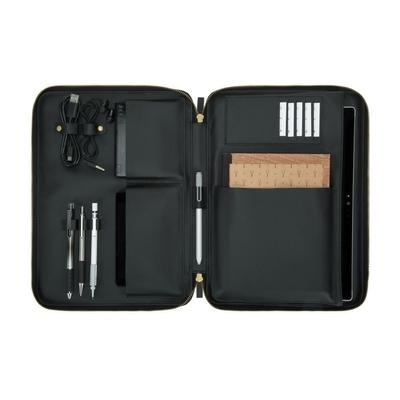 Etui Transport Samsung Galaxy BOOK 10.6 pouces Multi pochettes Esquire Gris Noir