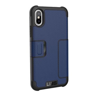 Folio de protection et cover ecran iPHONE X Bleu Cobalt