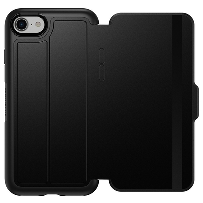 Etui Folio iPHONE 8 Protection et cover ecran Premium Noir