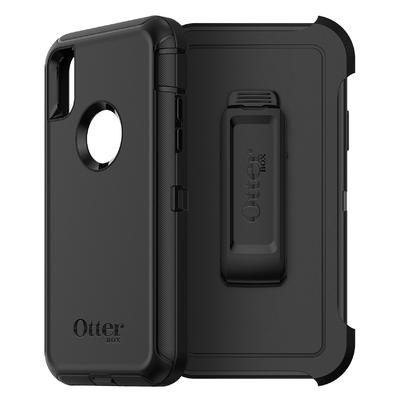 iPHONE X 5.8 pouces Coque de protection renforcee Defender Noir