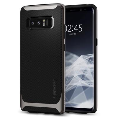 Coque Galaxy NOTE 8 Protection Hybride Noir et Silver