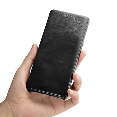Samsung Galaxy Note 8 Etui Venezia cuir veritable Cover ecran Noir