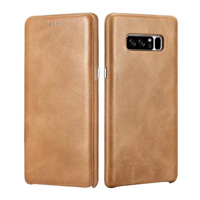 Galaxy Note 8 Etui cuir veritable Venezia Camel