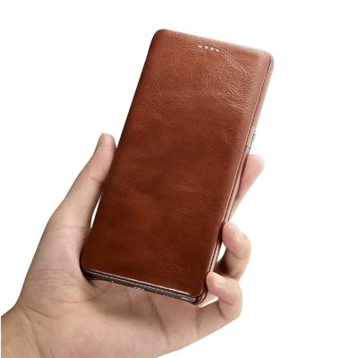 Galaxy Note 8 Etui Venezia cuir veritable Marron