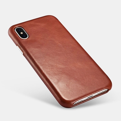 Etui cuir veritable pleine fleur iPHONE X Venezia