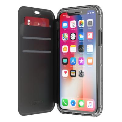 iPHONE X Etui folio protection Survivor Wallet Noir