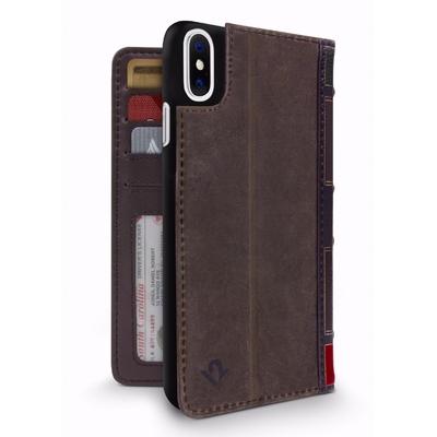 Etui cuir superieur BookBook iPHONE X 5.8 pouces Marron