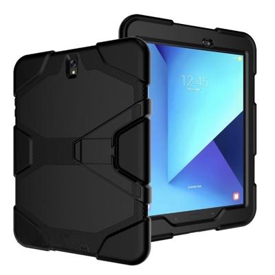 Galaxy TAB S3 9.7 Coque renforcee avec Film ecran rigide et pied amovible Vegas Noir