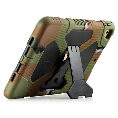 iPAD 2017 coque renforcée Vegas avec pied Multi angles Vegas Kaki Armee Camouflage