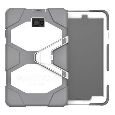Galaxy TAB A6 10.1 pouces Coque de protection avec sangle main Survivor Gris et Blanc