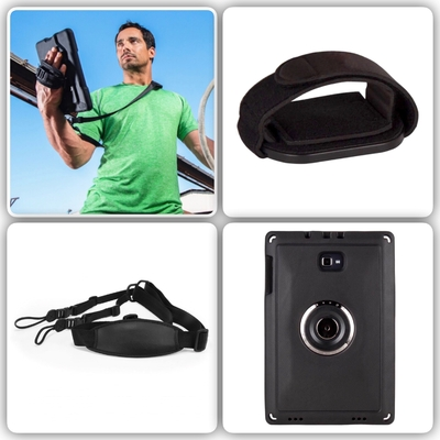 Pack 3 en 1 Harnais main Sangle epaule tour de cou et coque protection Chicago Connect Galaxy TAB A6 10.1 pouces