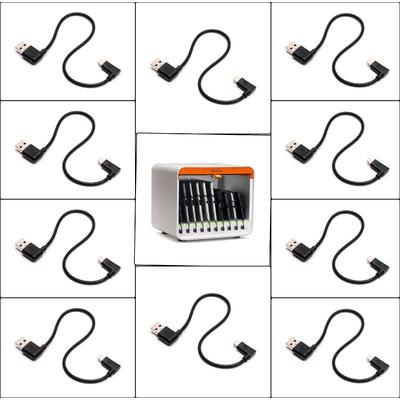 Pack 10 x Câbles Multidock Lightning vers USB 165 mm
