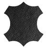 logo cuir noir